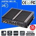 Fanless barebone mini pc 4500u i5 4200u core i7 windows 10 acidentada Caso ITX Incorporado Computador Industrial 2 LAN HDMI 6 COM Nettop