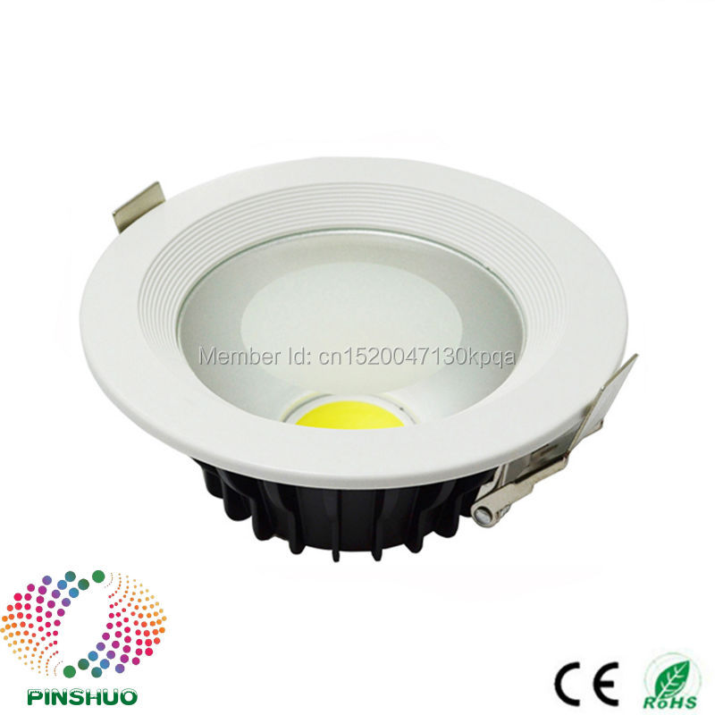 (10PCS / Lot) Garantía 3 años Bridgelux Chip 12W LED Down Light COB LED Downlight Lámpara de foco de techo regulable