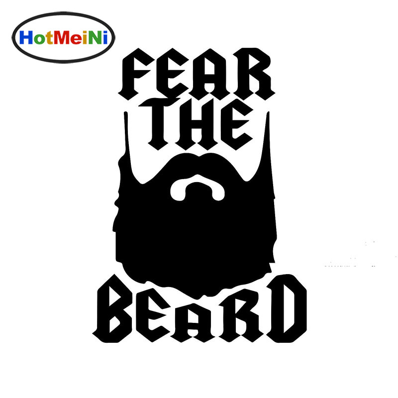 HotMeiNi Cartoon Art Humor Lettering Fear The Beard Funny art Car Sticker for Minicab SUV Canoe Waterproof Vinyl Decal 10 Colors horse riding sticker for car rear windshield truck suv bumper auto door laptop kayak canoe art wall die cut vinyl decal 8 colors