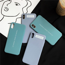 ins Simple words print phone case for