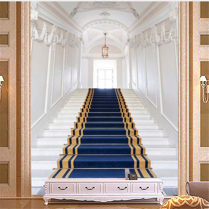 3D Custom Wallpapers Stairs Photo Wall Papers European Luxurious for Living Room Home Decor  Entrance Corridor Backdrop Murals custom photo wallpaper european town street view entrance background modern painting mural wall papers home decor living room