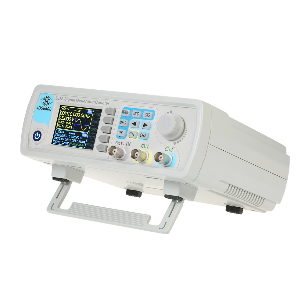 цена на Digital Dual-channel DDS Function Signal Generator Arbitrary Waveform Pulse Signal Generator 1Hz-100MHz Frequency Meter