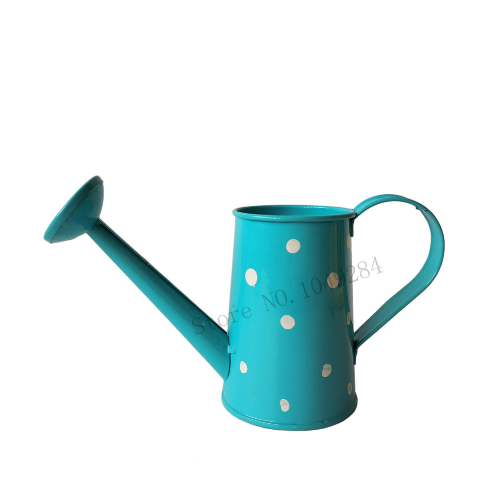 Free Shipping Blue Metal Favor Pail Mini Small Watering
