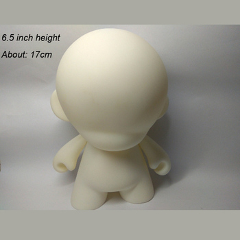 New Arrival Kidrobot Munny 6.5 inch DIY Paint Vinyl Doll Action Figure Doll White Color With Opp Bag