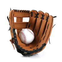 Outdoor Sports Baseball Glove Softball Practice Equipment Infield Pitcher Baseball Gloves Leather Brown Training Softball Gloves