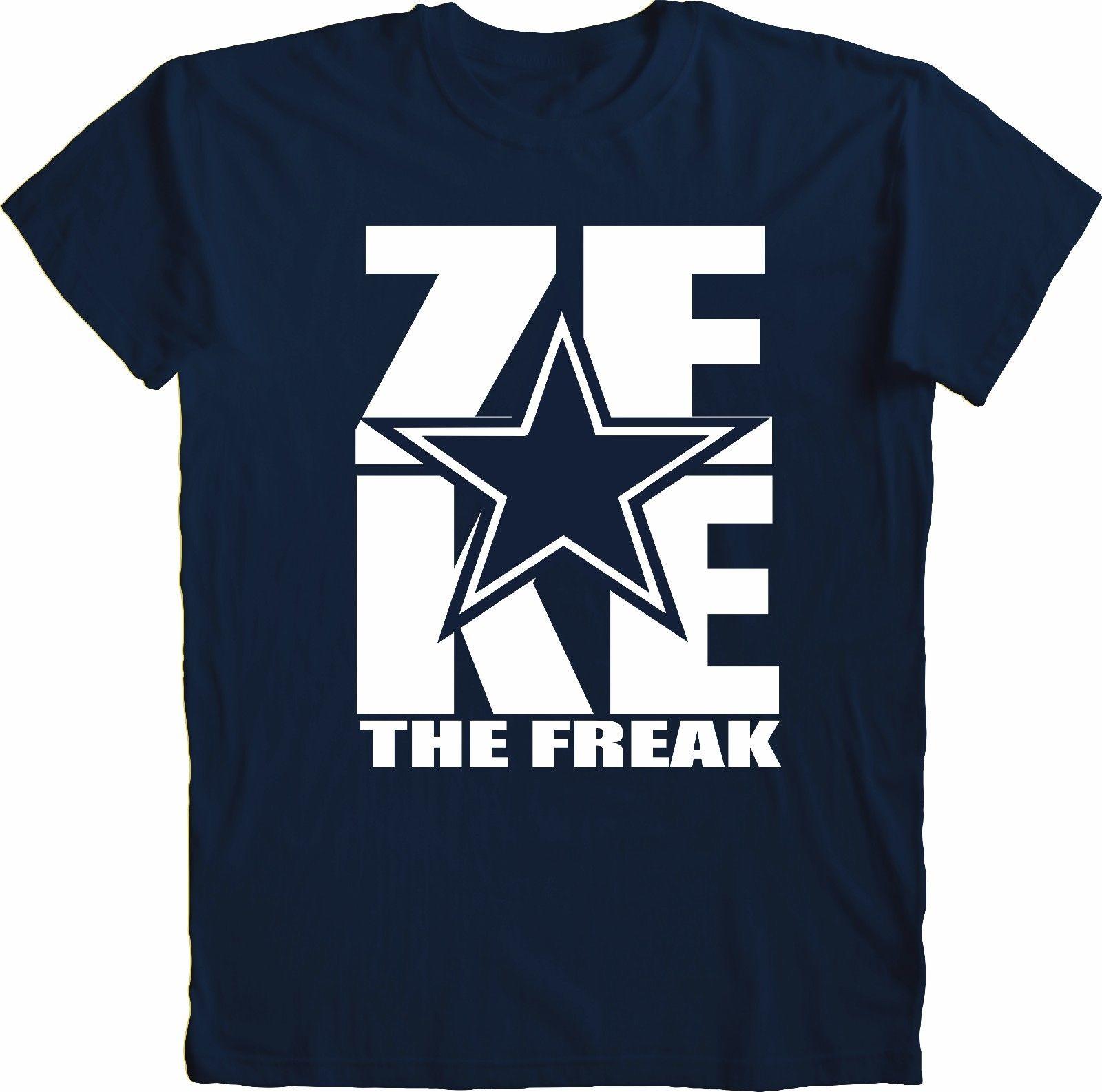 online retailer 9bda5 90be3 US $13.04 13% OFF|Zeke Ezekiel Elliott The Freak Style T Shirt Sizes T  Shirt Hot Sale Clothes Men Summer Short Sleeves Casual Print Tee Shirts-in  ...
