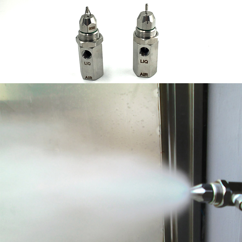Wholesale water air atomizing nozzle,316ss ultrasonic spray nozzle,Fine mist Dust control nozzle,Fine mist air atomizing nozzle