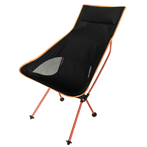 Image 1 - 11.11 עסקות נייד חיצוני מתקפל קמפינג כיסא תמיכה 360lbs גבוהה רשת חזרה עם לשאת תיק