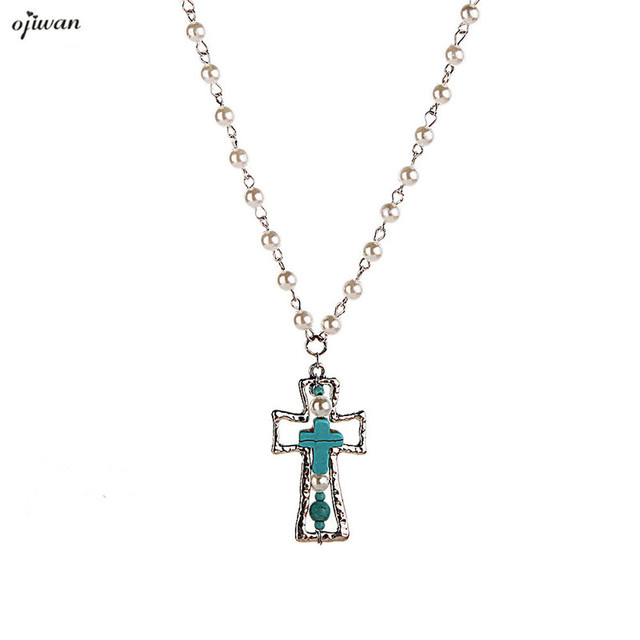 Tribal religious vintage christian cross necklace hippie pendant tribal religious vintage christian cross necklace hippie pendant women men western pendant jewelry collier femmes collar aloadofball Images