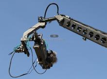12m 3 axis jimmy jib crane for with motorized dutch head loading 16kg heavy video camera jib crane 3 axis dutch roll head remote controller for jib crane