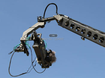 12m 3 axis jimmy jib crane for with motorized dutch head loading 16kg