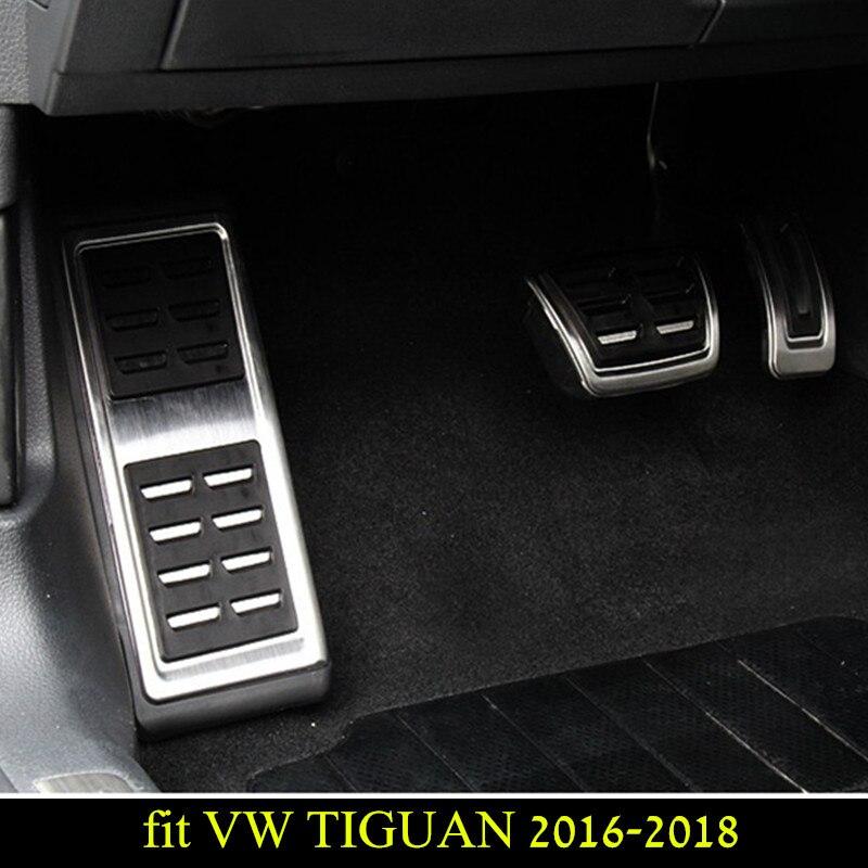 Embrayage de frein de carburant de pied de pédale de repos intérieur de voiture TIGUAN à pédales pour VW TIGUAN 2016 2017 2018