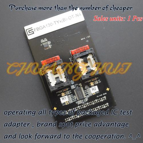 IC TEST FBGA130-TYx(B)-OT-N4 test socket FBGA130 BGA130 8X9 IC test socket