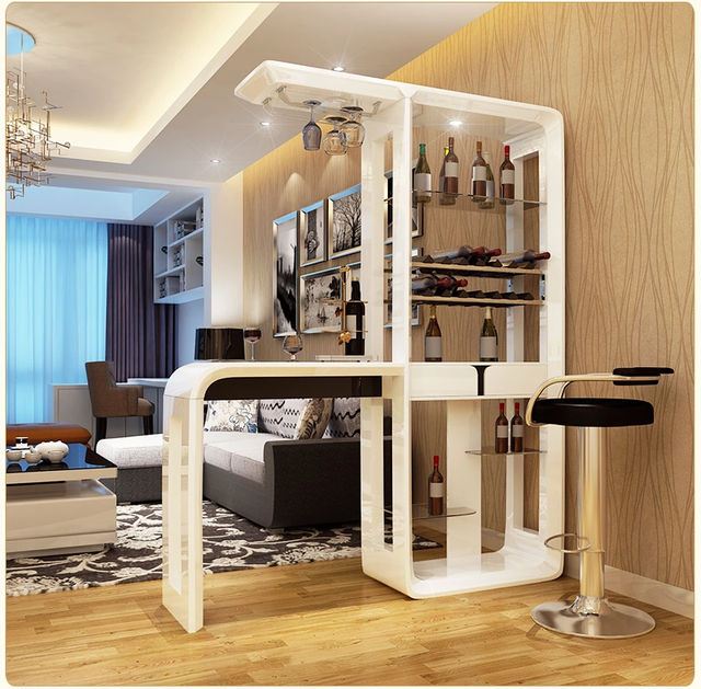 Online Shop Home Bar Furniture Set Bar Table With Led Tempered Glass