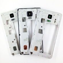 For Samsung Galaxy Note 4 N9100 N910F N910V N9108V N910C Middle Chassis Plate Bezel Mid Housing Frame Bezel Housing Repair Parts