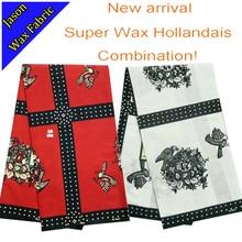 YBG08 new design latest Guaranteed African fabrics 2016/ Guaranteed super wax hollandais fabric combos (2pcs,6yards/pcs)