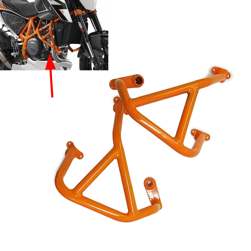 For KTM LC4 Duke 690 / 690 DUKE R 2012 2013 2014-2016 Motorcycle Frame Engine Protetive Guard Crash Bar Protector Orange Bumper motorcycle engine guard crash bars frame protector bumper for ktm 125 200 duke 2011 2012 2013 2014 2015 new