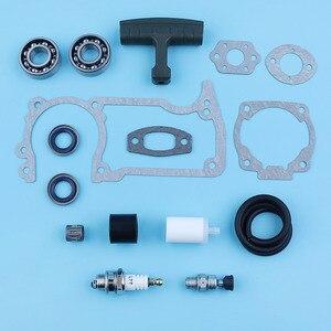 Image 5 - Crankshaft Bearing Oil Seal Decompression Valve Gaskets Set For Husqvarna 51 55 254 257 Chainsaw Fuel Line Filter Handle Grip