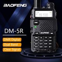 Baofeng DM 5R Walkie Taklie Dual Band DMR Digital Radio DSP Transceiver 5W VHF UHF 136 174/400 520 MHz Two Way Radio 2000mAH