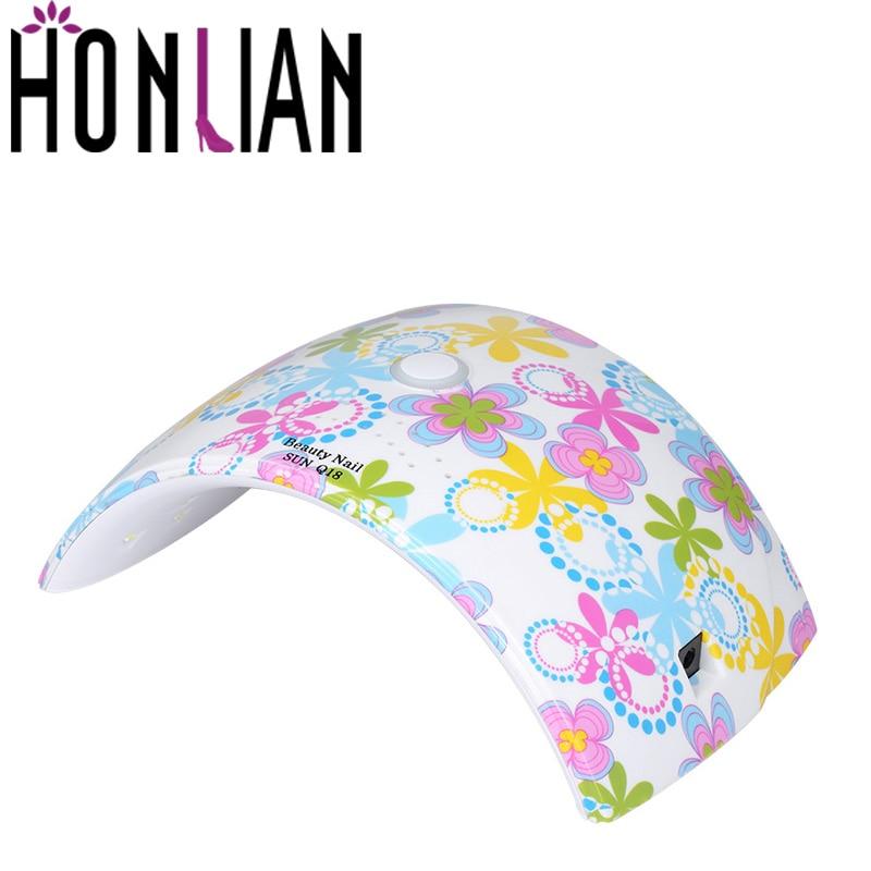 Honlian 36W UV LED 18PCS LEDS Lamp For Nail Dryer Manicure Cure aLL Gels Foot LED Nail Lamp Sensor Polish Professional Art Tool em 123 free shipping pro full 36w white cure lamp dryer