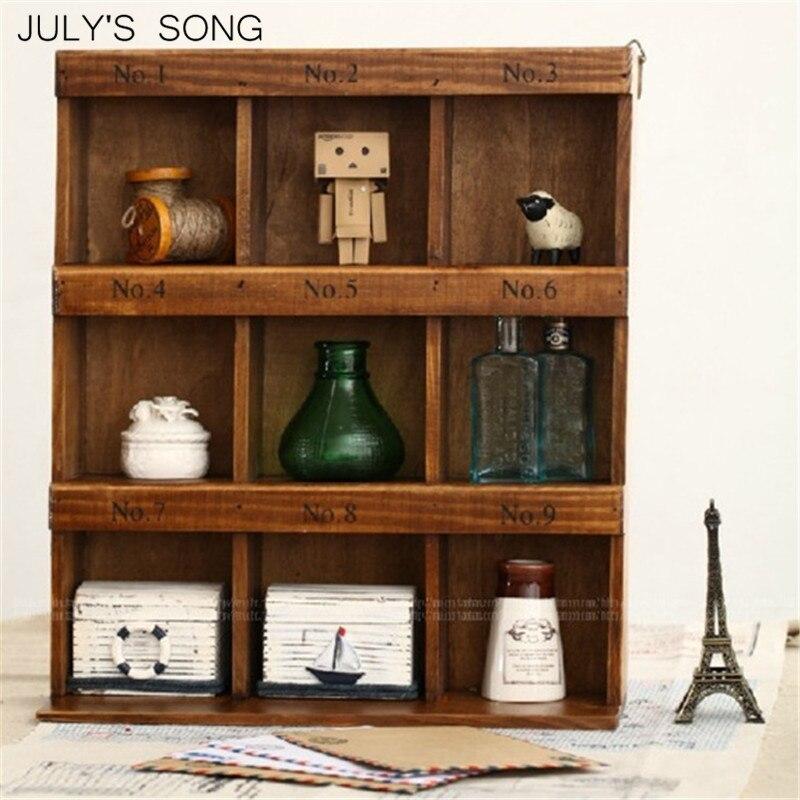 Julys Song Wood Storage Box Hanging Storage Organizer Collection