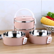 Mrosaa 1Pc Portable Insulation Lunch Case Stainless Steel Thermal Bento Case Box Food Container Dinnerware Tableware