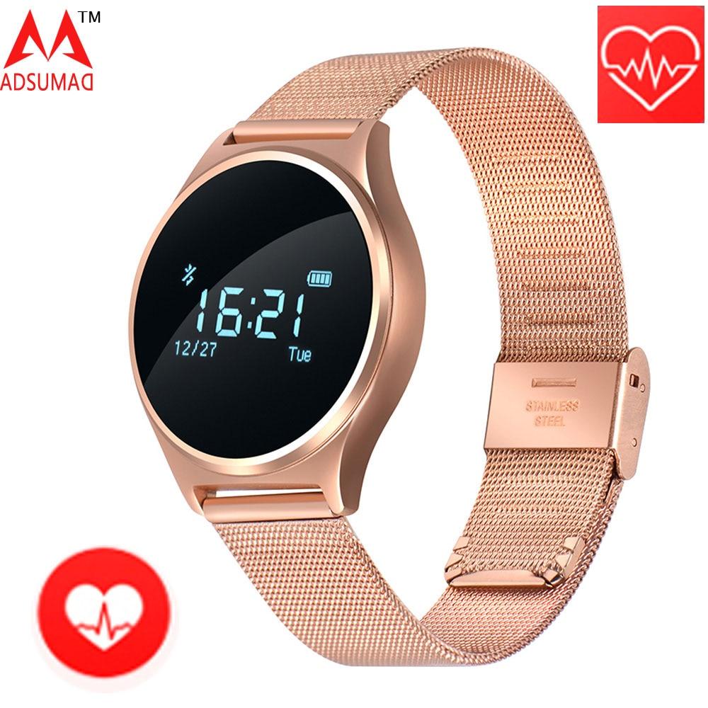 KENYI Smart Watch Men Women Life Waterproof Smartwatch Fitness Tracker Call Reminder Heart Rate Round Sports