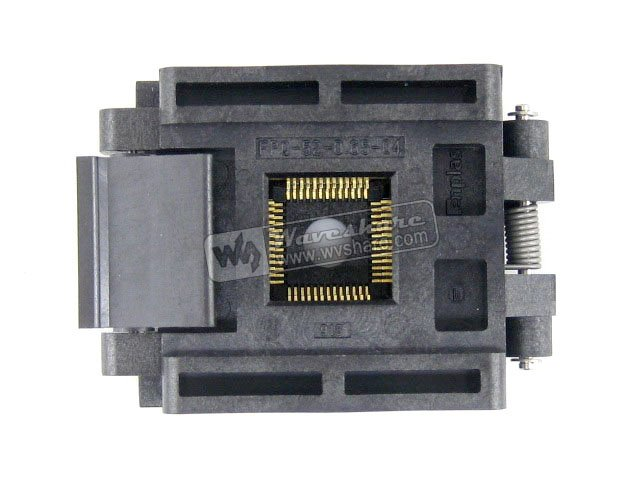 QFP52 TQFP52 LQFP52 PQFP52 FPQ-52-065-04 QFP IC Test Burn-In Socket Enplas 065mm Pitch