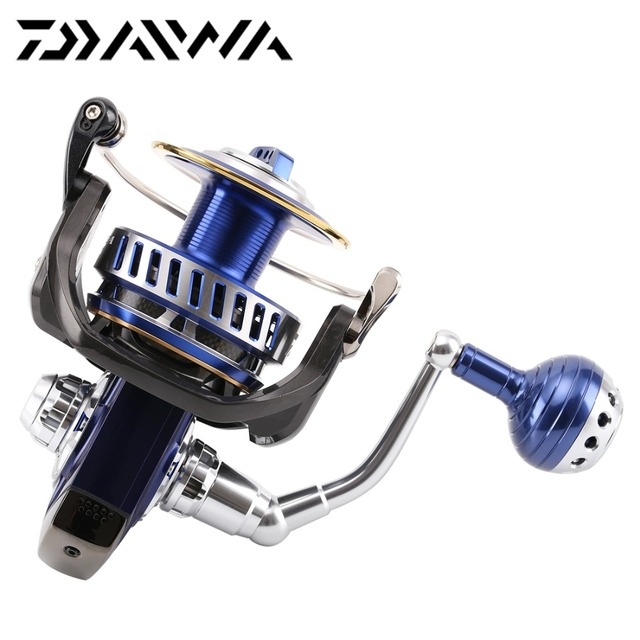 Original Daiwa 2014 SALTIGA 8000H Mag Sealed Spinning Reel 875g 5.7:1 Max Drag 30kg 13BB Zaion Air Rotor Saltwater Fishing Wheel