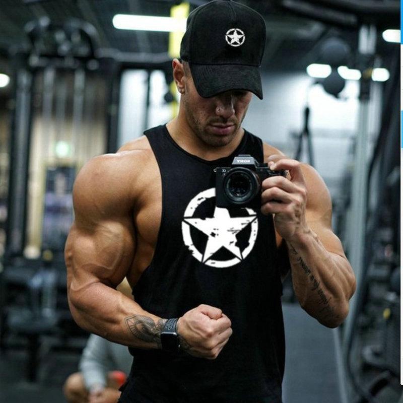 Кофты Супермена Хлопок Спортивная майка мышцы рубашки майки без рукавов Фитнес Танк топ мужская одежда для фитнеса или бодибилдинга мужчин