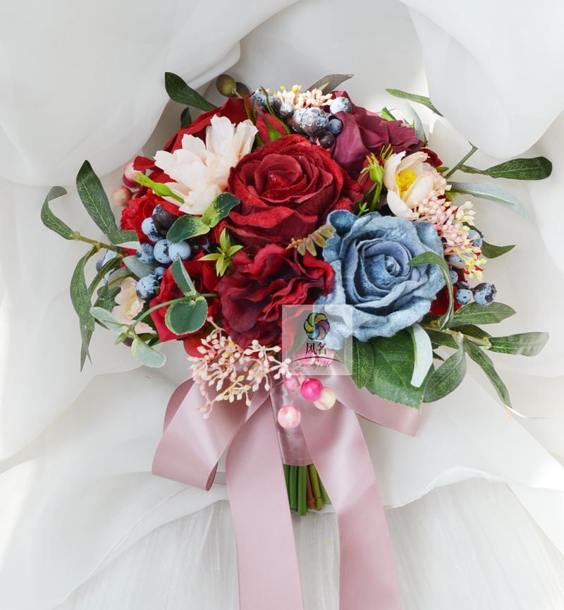 Wedding Hand Bouquet Flower: New Style Handmade Wedding Floral Bridal Bouquet Bride