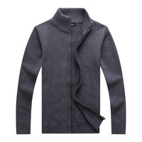 YIRUISEN Long Mens Cardigans Plus Size S 4XL Thick Warm Wool Sweaters For Men Winter Clothing