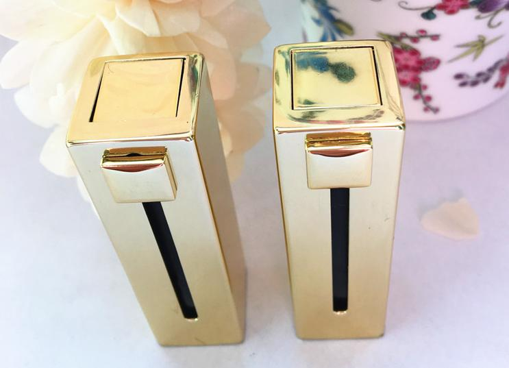 free shipping 12.1mm 10/20/50pcs/lot high-grade golden push-and-pull lipstick tube, cuboid empty Lip balm container 50pcs lot free shipping 5l0380r ka5l0380r