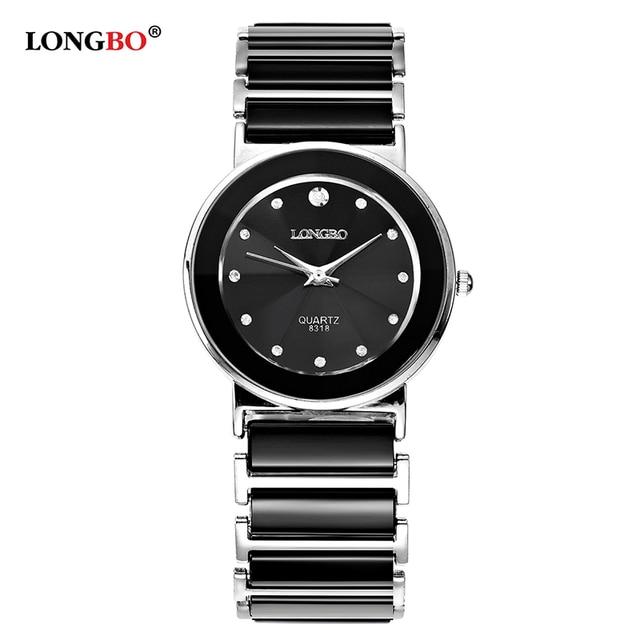 2018 Luxury Brand Longbo Couple Elegant Ceramic Watch Fashion Geneva Women Watch