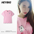 RIP DIP pocket Cat with Middle Finger Devil tee Street Fashion Hiphop tshirts  Heybig Funny HOT t-shirts China Sizing S-3XL