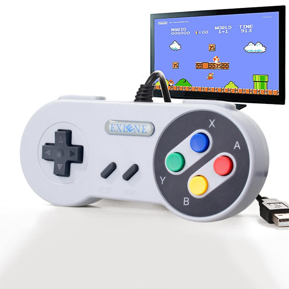 Exlene 3M wired Snes USB Controller Super Classic SNES