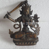 Metal Crafts Asian Antiques Collectible Decorated tibet Handwork copper Carved buddha statue