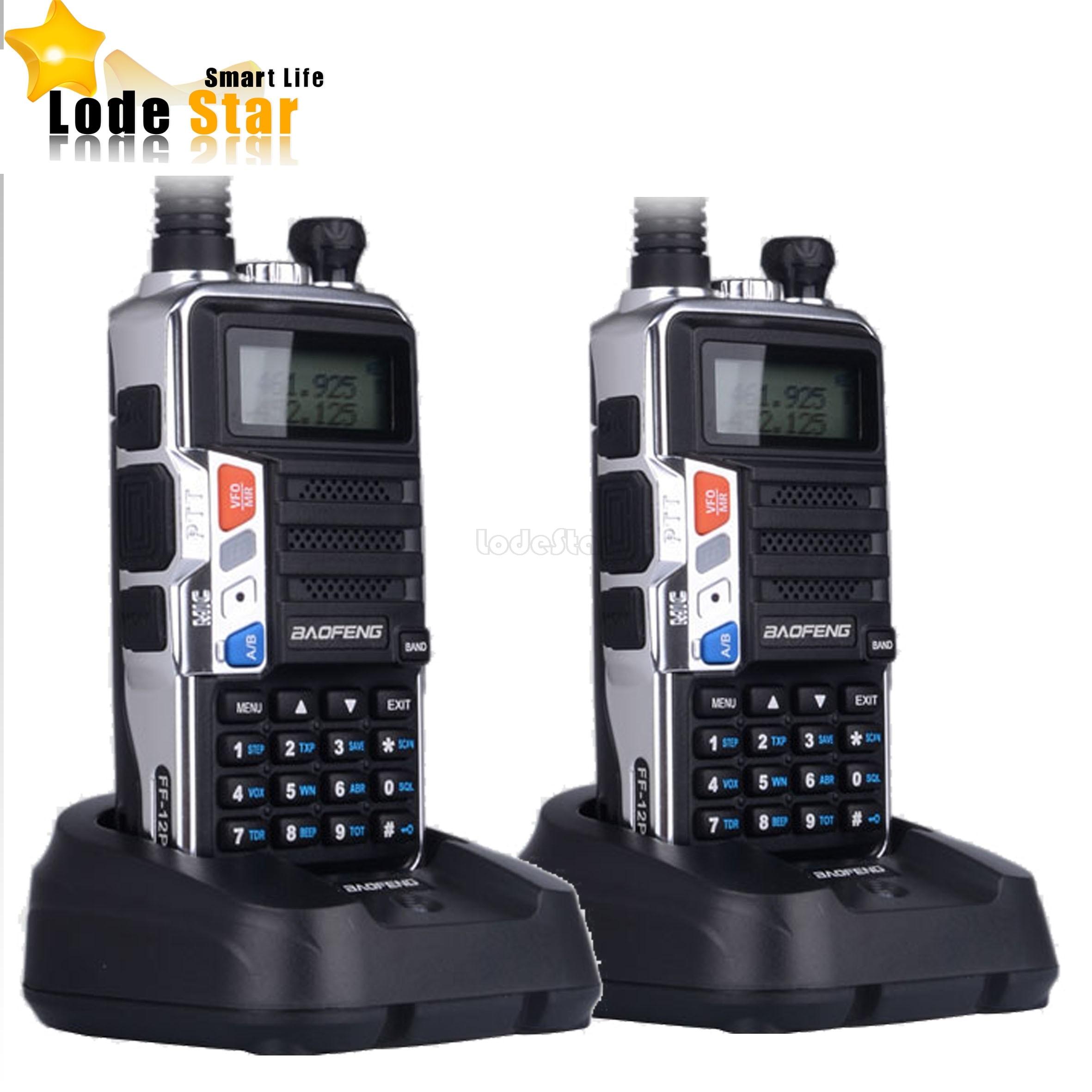 imágenes para 2 UNIDS FF-12P BaoFeng UV5R Actualizado 5 W de largo alcance Walkie Talkie Portátil Receptor de FM Profesional Dual Band VHF/UHF CB radio