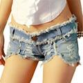 2016 Novo Estilo Verão Shorts Jeans Mulheres Fasgion Sexy Shorts Casual Rivet Holes Denim Shorts Jeans Mini Shorts Roupas Femininas