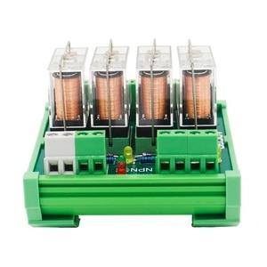 Image 4 - 4 채널 1 SPDT DIN 레일 장착 220VAC 인터페이스 릴레이 모듈