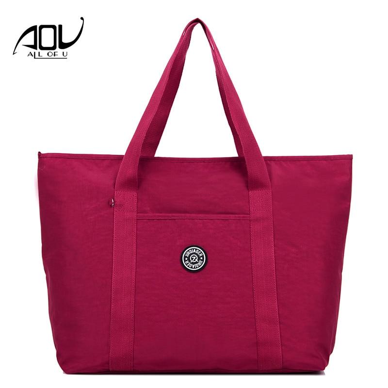 2018 Waterproof Nylon Handbags Women Shoulder Bag Female Designer Top-handle Shopping Bag High Capacity Casual Tote Bolsos Mujer