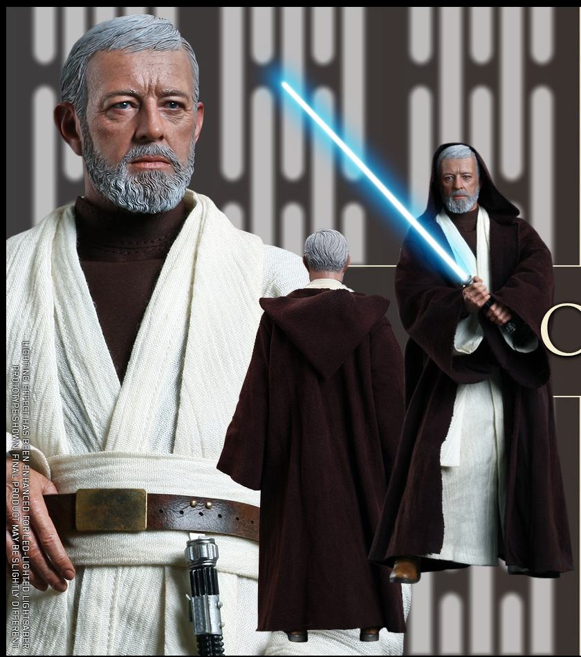 "1/6 scale film <font><b>figure</b></font> doll <font><b>Star</b></font> <font><b>Wars</b></font> Episode IV A New Hope <font><b>Obi-Wan</b></font> <font><b>Kenobi</b></font> 12"" <font><b>action</b></font> <font><b>figure</b></font> doll Collectible model plastic toys"