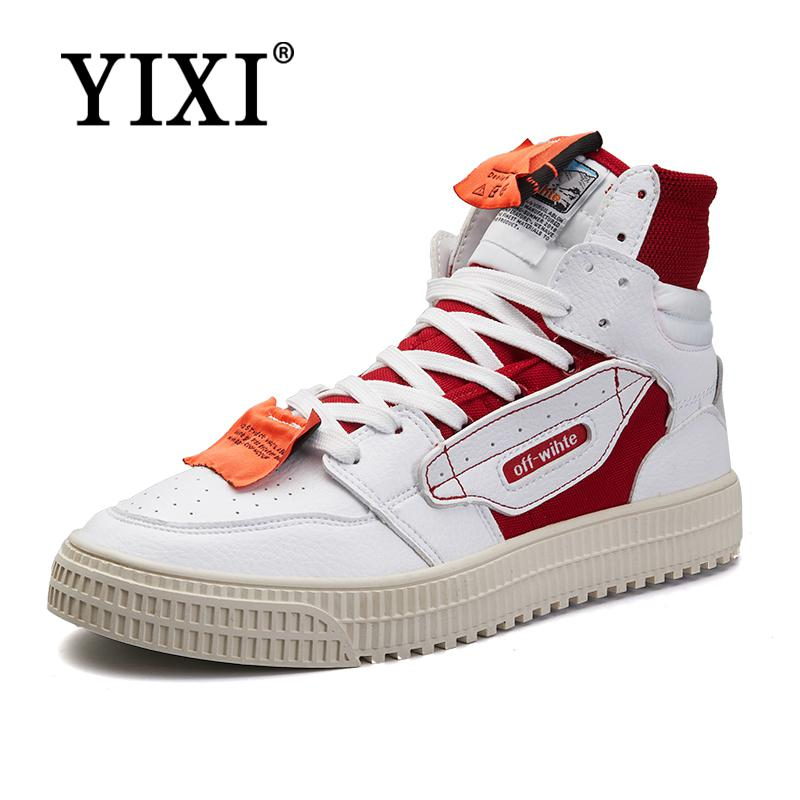 Yixi Sneakers Hommes High Top Plate Forme Chaussures Marque De Mode Uktluuer-152603-1155615 Vente