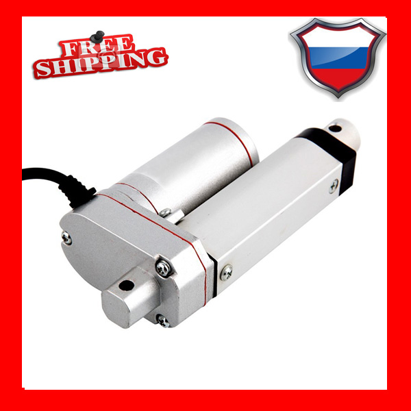 цена на Free Shipping 75mm/3inch stroke 12v mini linear tubular electric linear actuator, 1000N/100KG/225LBS load linear actuator