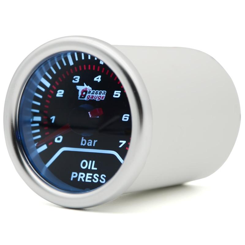 1 52/mm Horloge temps de voiture auto//camion Jauge M/ètre LED Blanc//Clair objectif 12/V