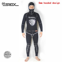 Slinx AQUITAUA neoprene 5mm wetsuit 2pcs top +bottom for scuba diving clothes spear fishing snorkeling swimming warm wears