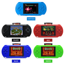 PXP3 Slim Station Video Games Player Handheld Game With 2pcs Game Card Console built-in 150 Classic Games 3 Inch 16 Bit