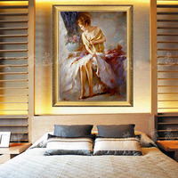 Artist Handmade Naked Woman painting naked woman Sexy Female Lady Woman abstract Oil Painting On Canvas Beauty Home Decoration