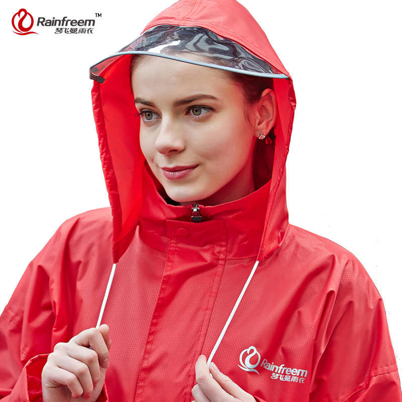 Rainfreem Hot Sale Raincoat Suit Hooded Motorcycle Poncho Motorcycle Riding Rainwear S-6XL Hiking Fishing Rain Gear