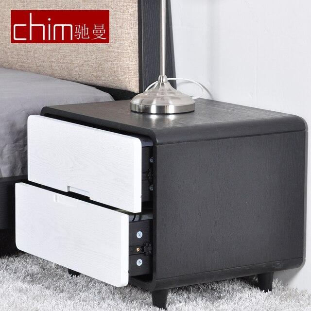 Chim Stilvolle Einfachheit Nachttische Tun Einfache Moderne IKEA Möbel Chi  Mann Esche Schwarz Lagerschränke